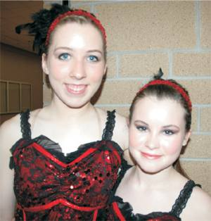 Lexi and Lizzie at dance recital 2013 - photo by Rökker