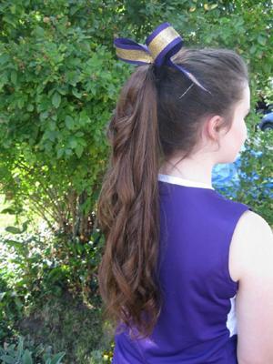 Lizzie's ponytail