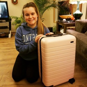 Lizzie & her new Pink Luggage....  - photo by Allison Rocker