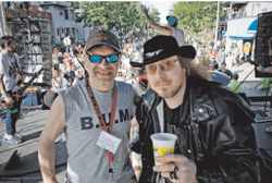 Black n Tan and Rökker at the Mifflin Street Block Party - photo by Nick Berard
