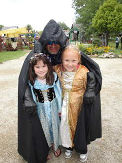 Darth Rökker, Elizabeth and Xiola Blue at the Bristol Ren Faire - photo by Dan Schneiderman