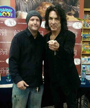 Steven Mark Sime posing with one of his fav's, Paul Stanley of Kiss