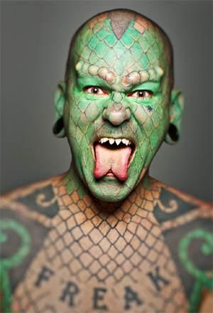 """Lizard Skynard frontman Erik """"Lizardman"""" Sprague"""