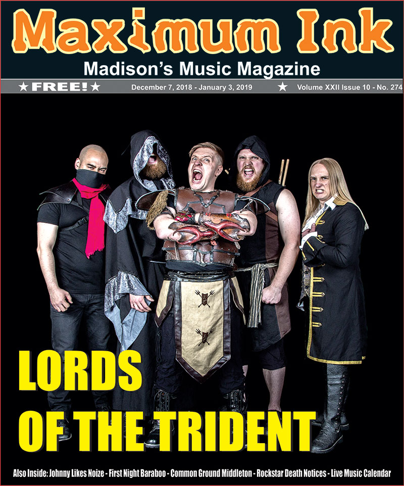 Lords of the Trident on the cover of December 2018 Max Ink
