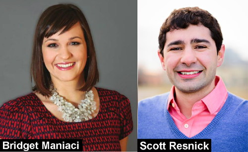 Bridget Maniaci and Scott Resnick, both running against Madison's incumbent Mayor Paul Soglin
