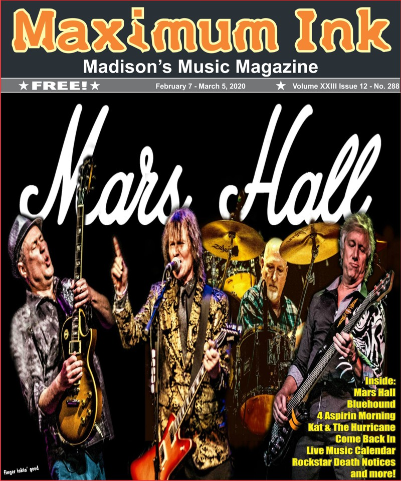 Mars Hall on the cover of Maximum Ink  - photo by John Flores