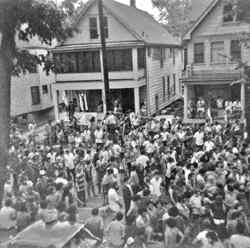 the first Mifflin Street Block Party circa 1969