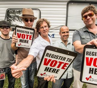 moe. Register to Vote! - photo by Sal Serio