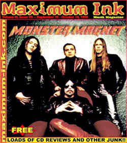 Monster Magnet on the cover of Maximum Ink in September 1998
