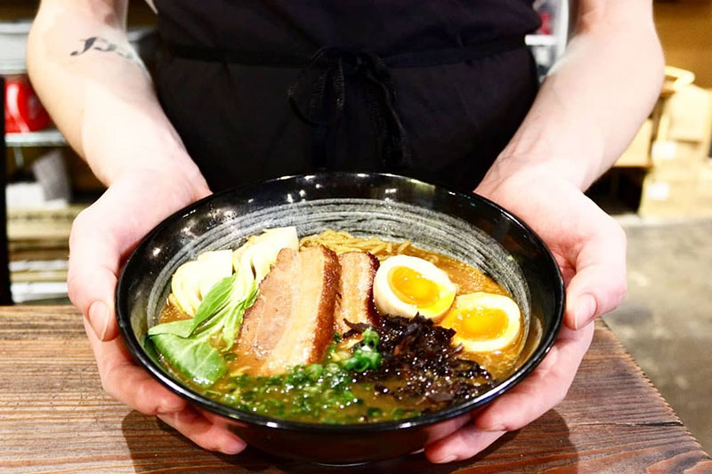 a plate of food from Morris Ramen - photo by Facebook