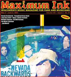 Nevada Backwards on the cover of Maximum Ink in May 2003