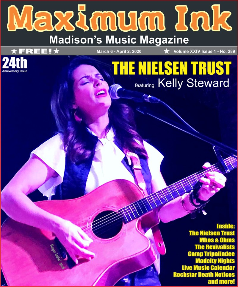 The Nielsen Family Trust's Kelly Steward on the cover of Maximum Ink's 24 Year Anniversary Issue