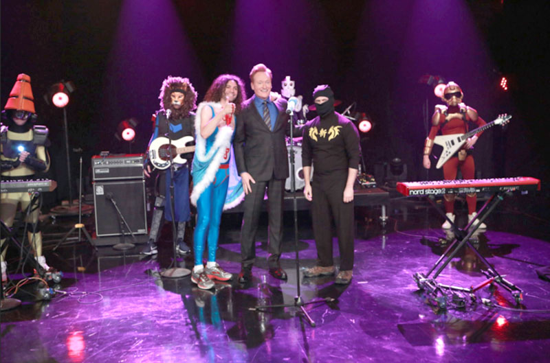 Ninja Sex Party on Conan - photo by #teamcoco