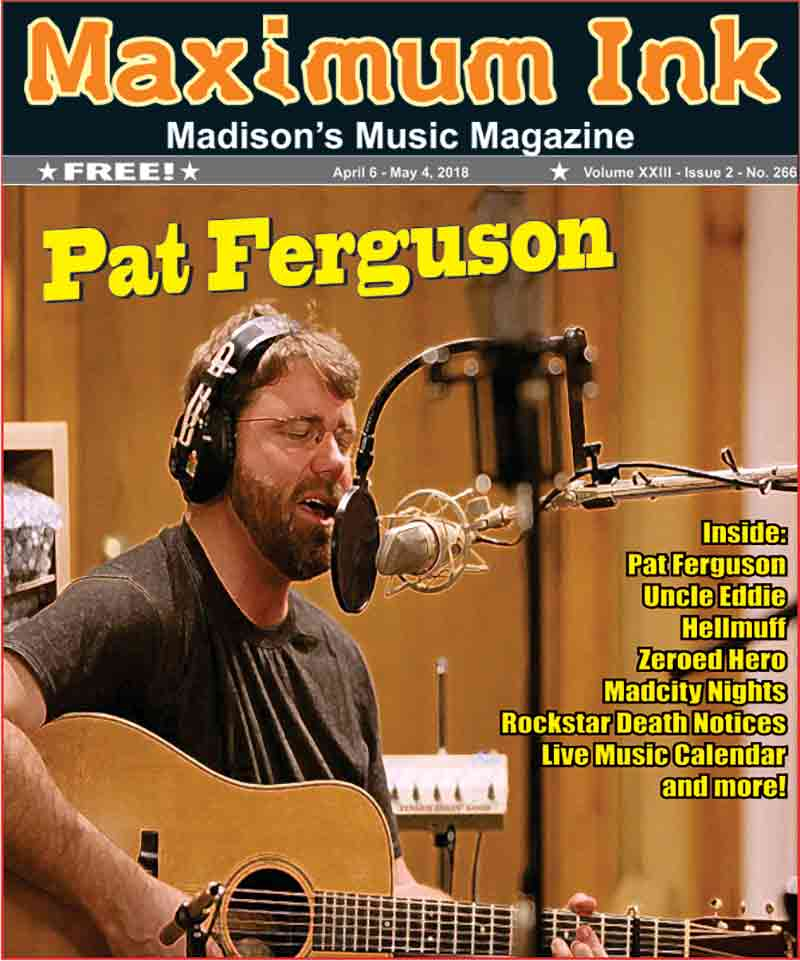 Pat Furgeson on the Cover of Maximum Ink for April 2018 - photo by Ty Halbech