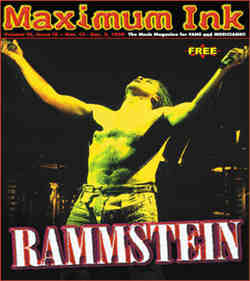 Rammstein on the cover of Maximum Ink in November 1998  - photo by Paul Gargano