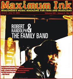 Robert Randolph & the Family Band on the cover of Maxmum Ink in June 2003