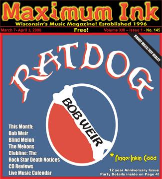 Ratdog featuring Bob Weir on the cover of Maximum Ink in March 2008