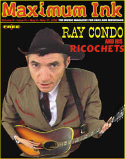 Ray Condo and his Ricochets on the cover of Maximum Ink in May 2000 - photo by Dan Zubkoff