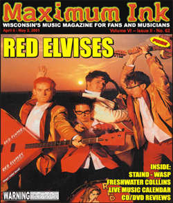 The Red Elvises on the cover of Maximum Ink in April 2001