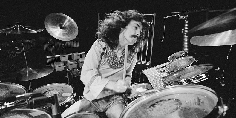 Rush's Neil Peart circa 1970's