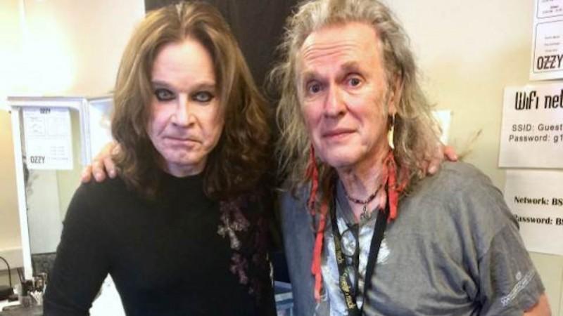 guitarist Bernie Torme with Ozzy Osbourne