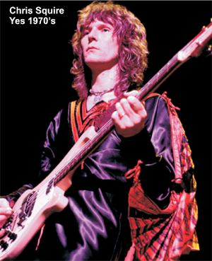 Chris Squire of YES circa 1970's