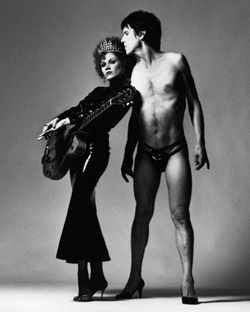 Lux Interior pictured with wife and guitarist Poison Ivy