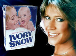 Marilyn Chambers on the cover of the Ivory Snow Box