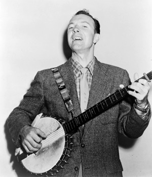 the young Pete Seeger