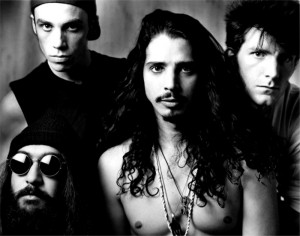 Soundgarden with singer Chris Cornell in foreground