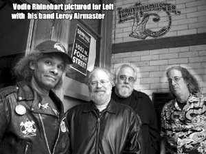 Milwaukee's Vodie Rhinehart pictured left with his band Leroy Airmaster