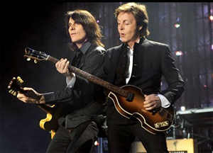 Rusty Anderson with Paul McCartney