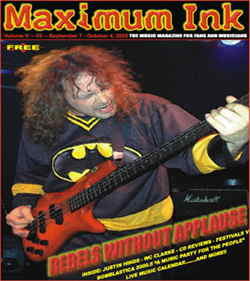 Chicago's Rebels Without Applause on the cover of Maximum Ink in September 2000 - photo by Craig Gieck
