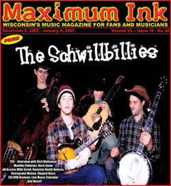 The Schwillbillies on the December 2002 cover of Maximum Ink - photo by Rokker