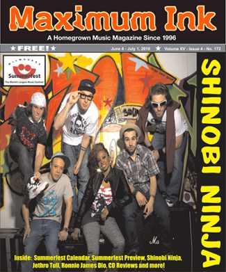 Brooklyn's Shinobi Ninja on the cover of June 2010 Max Ink