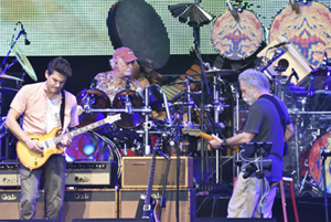 John Mayer, Bill Kreutzmann & Bob Weir - photo by Michael Sherer