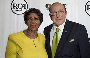 Aretha Franklin & Clive Davis - photo by Michael Sherer