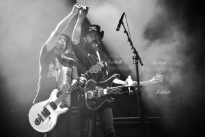 Phil Campbell & Lemmy - photo by Michael Sherer