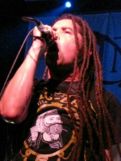 Elias Soriano of Nonpoint 5-21-13 at the Orpheum Theater in Madison - photo by Kris Huehne