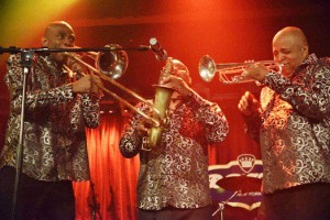 Ohio Players horn section - photo by Michael Sherer