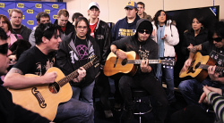 Neurosonic performs acoustic set. -photo by Sarah Paske
