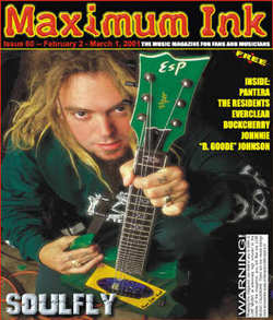 Soulfly on the cover of Maximum Ink in February 2001