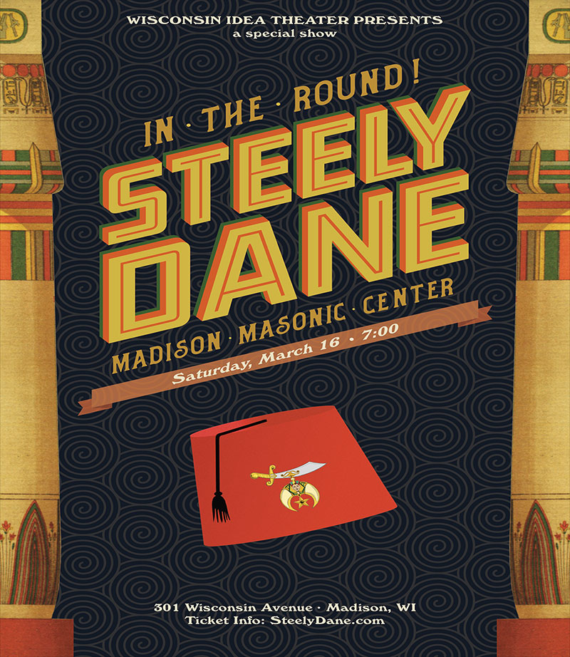 Steely Dane plays in the round at the Masonic Center in Madison