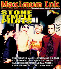 Stone Temple Pilots on the cover of Maximum Ink October 2000