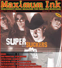 Supersuckers on the cover of Maximum Ink in May 2002