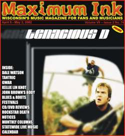 Tenacious D on the cover of Maximum Ink in April 2002