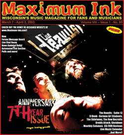 The Heavils on the cover of Maximum Ink for March 2003