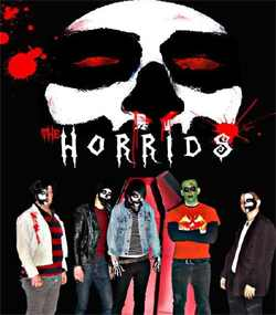 The Horrids in full facepaint