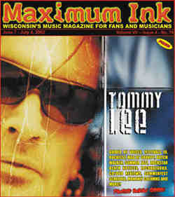 Tommy Lee on the cover of Maximum Ink in June 2002