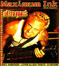 Ultraspank on the cover of Maximum Ink in July 1998 - photo by Paul Gargano